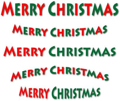 Christmas font character set