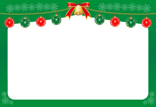 Christmas ornament · frame (green)