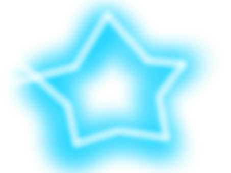 Star 【frame】 light blue