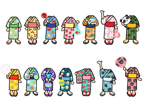 Little Yukata 1 Change clothes