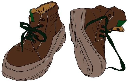 High cut sneakers brown, mountain climbing shoes style