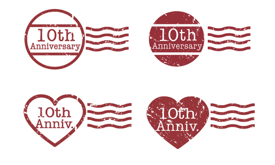 10th anniversary stamp
