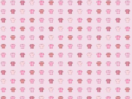 벽지 연 분홍색 체크 T 셔츠