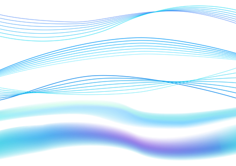 Blue abstract wavy lines background material set