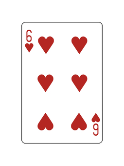 Playing Card Heart 6