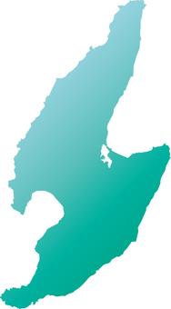 Sado Island _ Silhouette _ Green_Grade