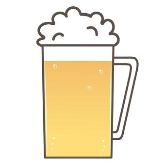 잔에 담긴 맥주