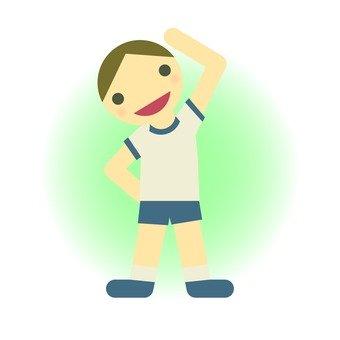 A boy who exercises