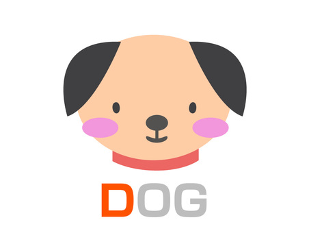 English word card D DOG