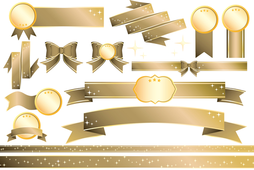 Ribbon vector _ gold