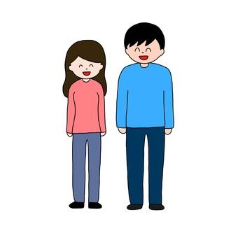 笑顔 夫婦