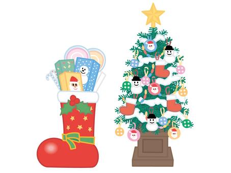크리스마스 트리와 부츠
