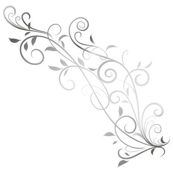 蔓草のフレーム1(銀)