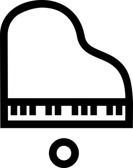 Illustration viewed from directly over the piano (frame only)