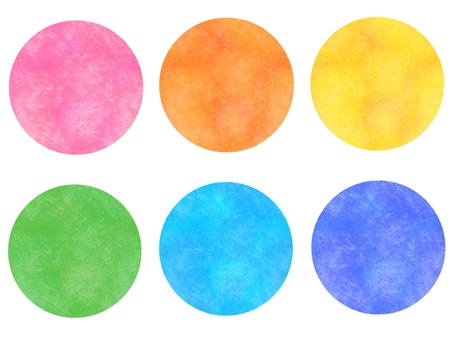 Icon, circle, colorful