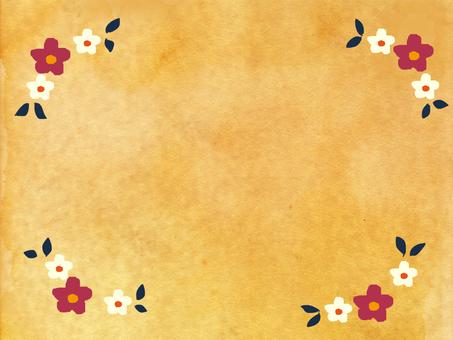 Flower frame of waste paper
