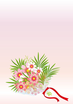 Cosmos & palm leaf bouquets 5