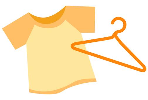 T-shirt and hanger (Orange
