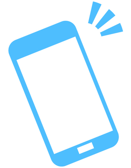Smartphone icon (light blue)