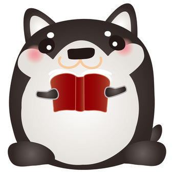 Kuroshiba reading book