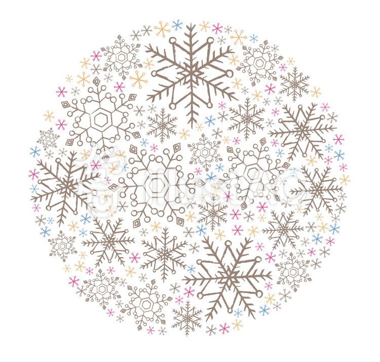 雪の結晶 まるイラスト No 48464無料イラストならイラストac