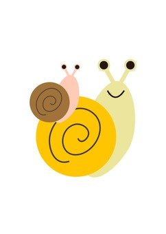 Parent and child of a snail
