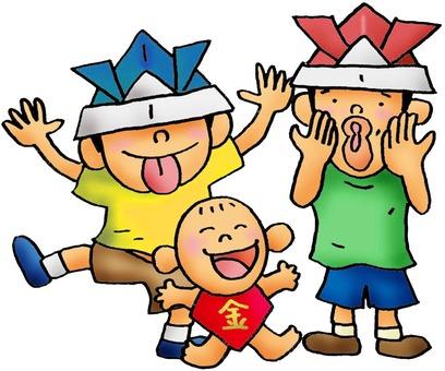 Midday's season children illustration