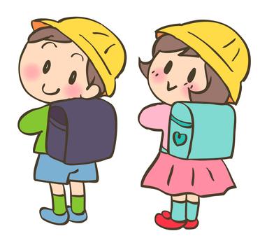 Schoolgirl for elementary school students -1