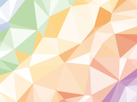 Rainbow-colored polygon background material Colorful