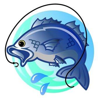Blue fish icon