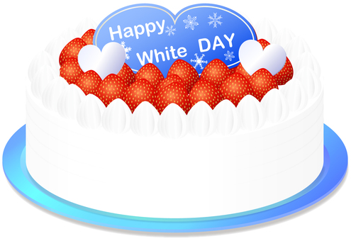 White day cake