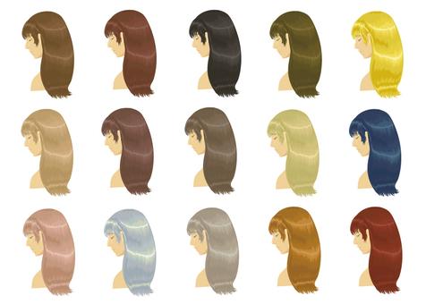 Women hair color set material