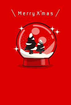 크리스마스 트리 스노우 글로브 (세로)