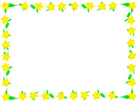 Yamabuki flower frame
