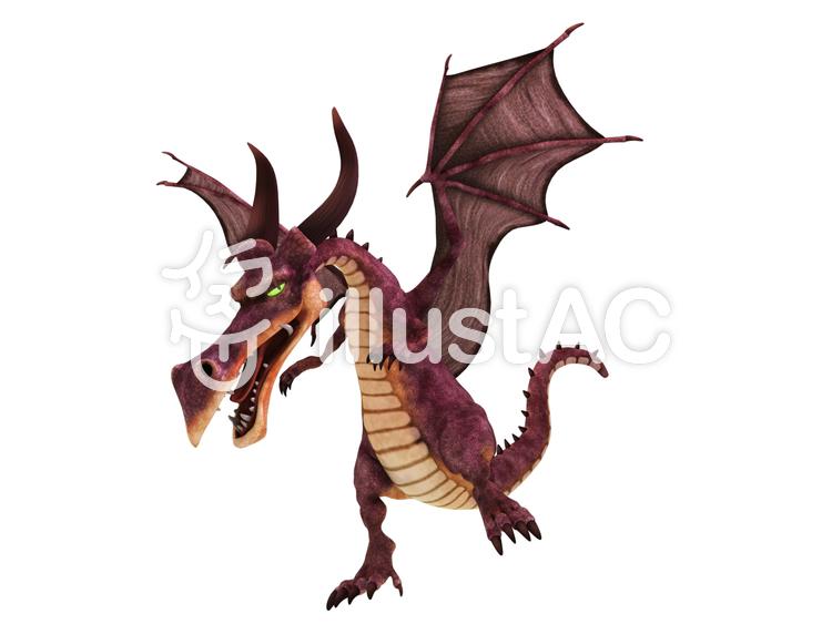 アニメ・ドラゴンのイラスト
