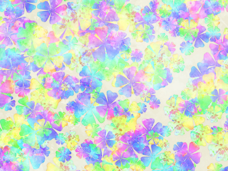 Chiyogami flower scattering