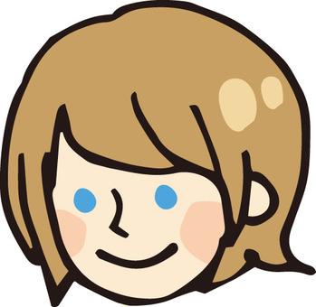 얼굴 아이콘 (여자 2 · 해외)