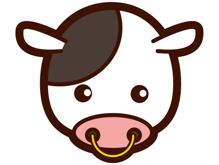 Cute cow's face