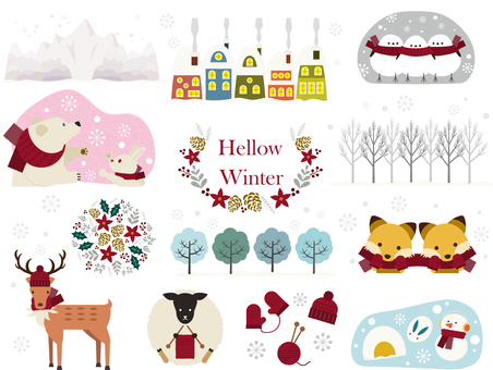 Material 160 (Winter _ Animals _ Set 01)