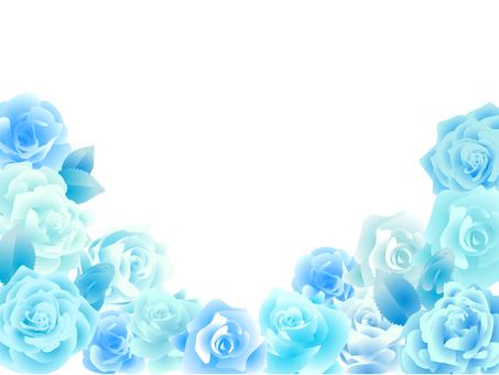 Rose frame Blue
