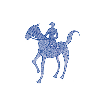 Horse riding illustration
