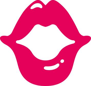 Kiss mark lip