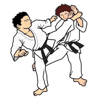 Karate (Kumite) Illustration
