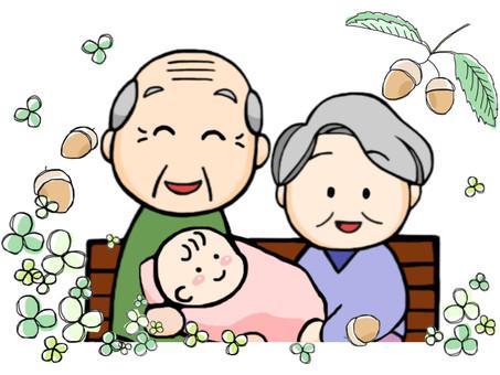 Grandpa Grandma Grandchild