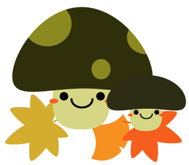 Fall illustration Mushroom