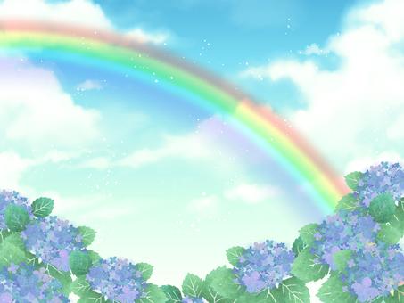Hydrangea and rainbow