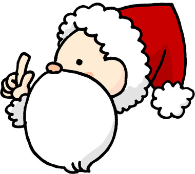 Professional finger pointing Santa Claus