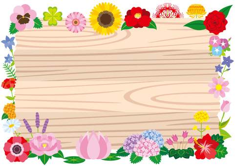 Signboard and flower frame B