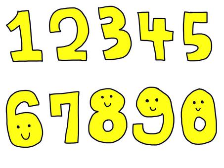 Number set yellow