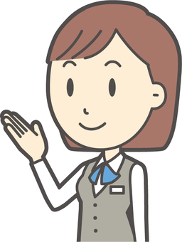 事務員ボブ女性-146-バスト